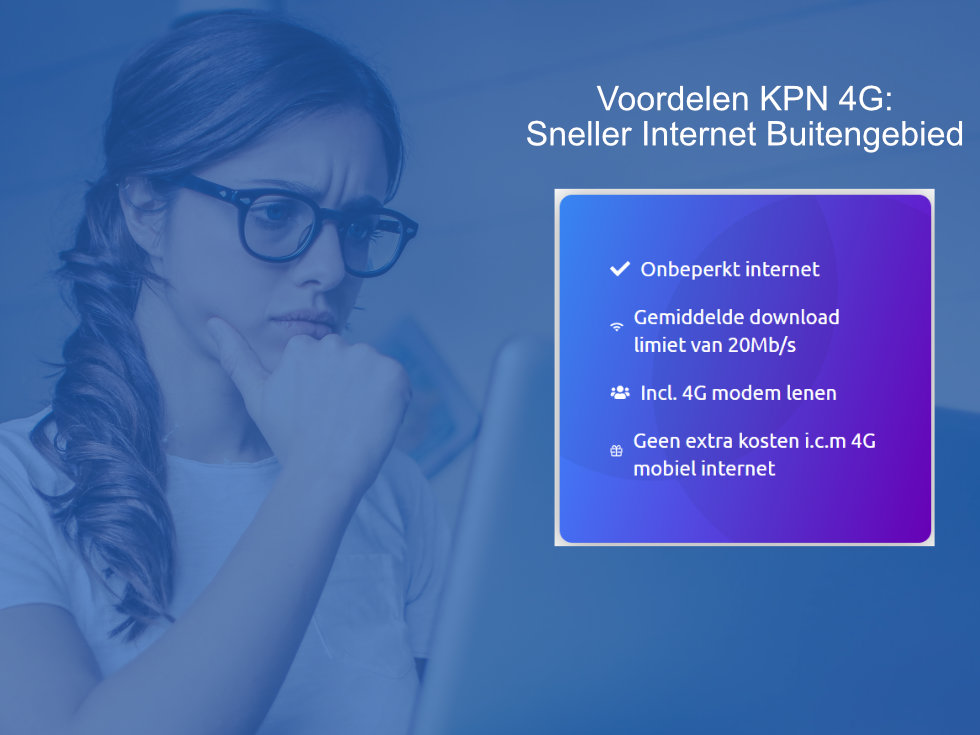 KPN 4G: Sneller Internet Buitengebied