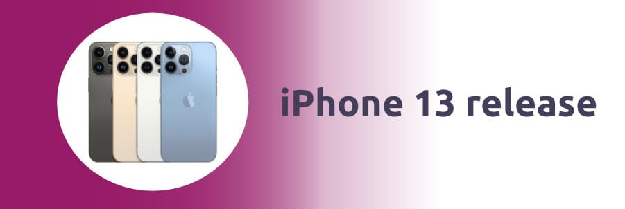 iPhone 13 release afbeelding